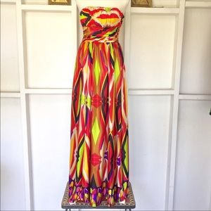 Rubber Ducky Vibrant Strapless Gown XS